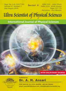 Journal of Ultra Scientist of Physical Sciences A